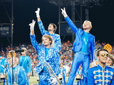 A photo of the Bluecoats.